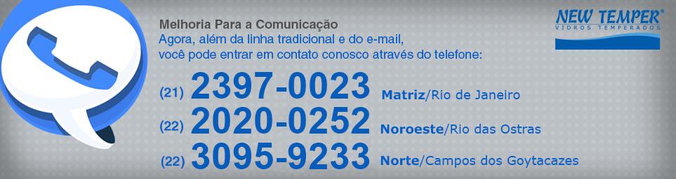 Novo Telefone (21) 3613-5500